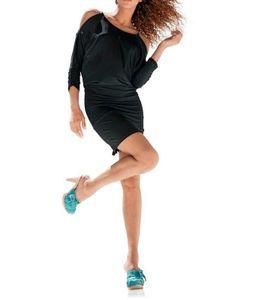 Best Connections kurzes Damen Shirt-Kleid Schwarz Kettenelementen, Größe:46