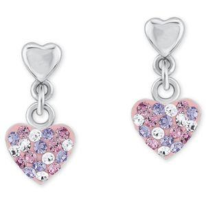 Prinzessin Lillifee Kinder Ohrringe Silber Herz Kistalle 2013169
