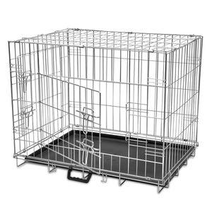 Faltbare Hundebox Hundekäfig Hundetransportbox Metall M