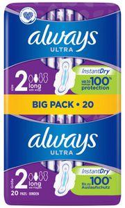 always Ultra Damenbinde Long mit Flügeln BigPack 20
