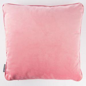 SCHÖNER LEBEN. Samtkissen mit Kederumrandung und Federfüllung rosa 50x50cm