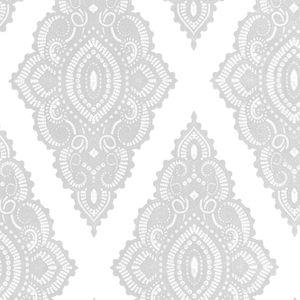 Julian MacDonald - Edelstein Perle/Silber Vliestapete - 10m x 52cm