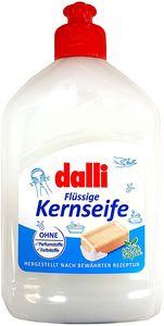 1 Spender Dalli Flüssige Kernseife, 500 ml parfümfrei Seife Haut pflegend , vielseitig verwendbar 100% Vegan