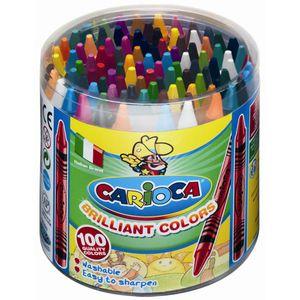 100 Wachsmalstifte Ø 8mm - 30 Farben - Wachsmaler für Kinder, auswaschbar
