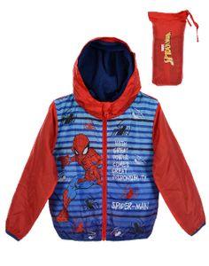 Spider-Man Kinder Kapuzen-Windjacke mit Motiv, rot, Größe:128