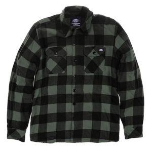 Dickies - Sacramento Karohemd Gravel Grey Arbeitshemd Hemden Grau Herren Größe XS
