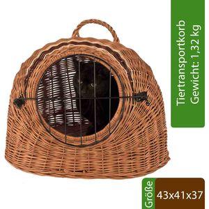 Katzenkorb aus Weide Transportkorb Weidenkorb Transportbox Korbhöhle Katze Hund