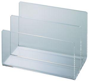MAUL Kartenständer Acryl mit 2 Fächern glasklar