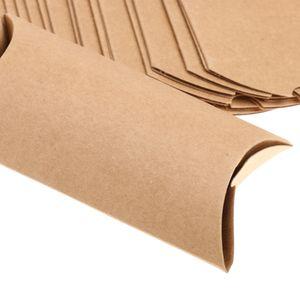 Pillow Box Geschenkkarton aus Kraftpapier Set of 50, 15 x 7.5cm, Hochzeit Gastgeschenk