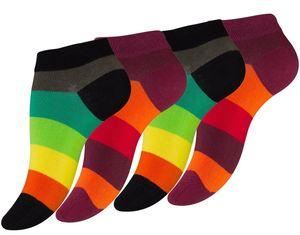 Vincent Creation® Sneaker Socken 8 Paar, mit Blockstreifen 35-38