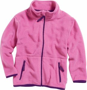 Playshoes Fleece-Jacke farbig abgesetzt, in pink, Größe 80