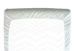 Inkontinenz PVC Spannbettbezug 90 x 200 cm, Bettbezug, Spannbettlaken weiß