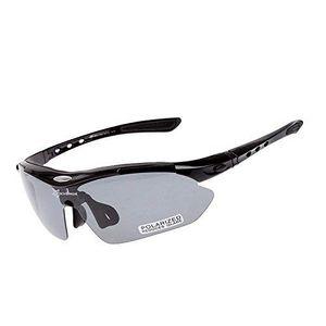 ROCKBROS Fahrradbrille Polarisiert Brille UV400 Schwarz