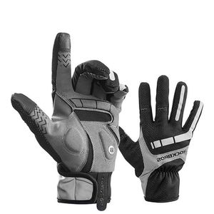 ROCKBROS Fahrrad Handschuhe XXL Vollfingerhandschuhe Winter Touchscreen Herbst für Herren Damen Outdoors