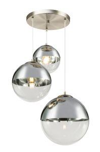 Globo Lighting VARUS Hängeleuchte nickel matt, 3xE27, 15851-3