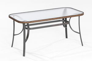 Merxx Roma Tisch - Farbe: anthrazit/braun - Maße: 150 cm x 80 cm x 72 cm; 28197-210