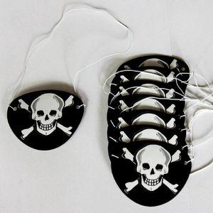 Oblique Unique 8 Piraten Augenklappen Fasching Piratenkostüm - Totenkopf
