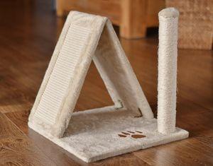 animal-design Katzenhaus URLAUB Katzen Kratzturm mit Sisalkratzflächen und Kratzsäule
