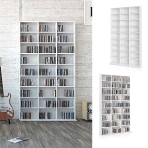 Vicco Wandregal CD DVD Regal Standregal Medienregal Regalwand Bücherregal Weiß