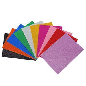 Glitzerschaumstoff - selbstklebend - 20x30 cm - 10 Farben - 10 Stück