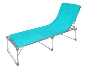 Floringo Schonbezug für Sonnenliege Gartenliege 70x200 Twin-Star 95° waschbar-karibik