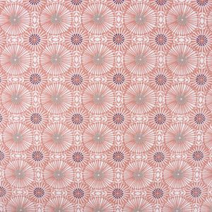 Tischdeckenstoff beschichtete Baumwolle WOMBY Blumen Kreise apricot lila mint weiß 1,5m Breite