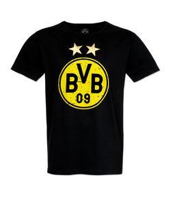 Fan-Shop BVB Borussia Dortmund Logo T-Shirt Mehrfarbig - Herren, Größe:XXL