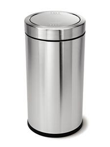 simplehuman 55 Liter Schwing-Top Abfalleimer, gebürsteter Edelstahl - 9,53x9,53x44,5 cm; CW1442