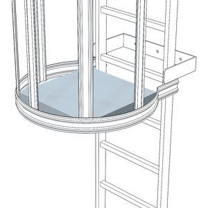Zarges Zwischenplattform klappbar als Ruheplattform für Steigleiter Edelstahl