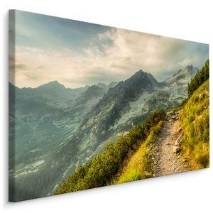 Fabelhafte Canvas LEINWAND BILDER 120x80 cm XXL Kunstdruck Natur Berge Landschaft