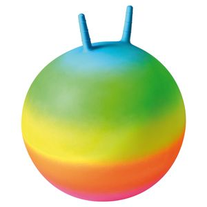 EDUPLAY 170388 Regenbogen-Hüpfball, regenbogenfarben