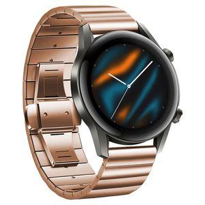 20mm Uhrenarmband Edelstahl Armband Armband Ersatz Kompatibel mit HUAWEI WATCH GT2 42mm / HONOR MagicWatch2 42mm,Roségold