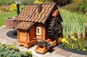 Wunderschöne gr. Wassermühle, Holz im Blockhausstil, Holzschindeln, XXL