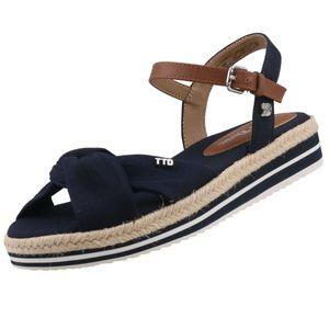 TOM TAILOR Damen Keil-Sandalen Blau, Schuhgröße:EUR 39