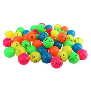 Schramm® 50 Stück Lachgesicht 27mm Flummi Springball Hüpfball Mitgebsel Tombola Kindergeburtstag