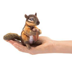 Folkmanis Fingerpuppe Mini Streifenhörnchen mit Eichel 2771