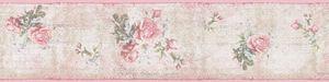 A.S. Création selbstklebende Bordüre Only Borders 9 beige grün rosa 5,00 m x 0,13 m 312051