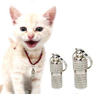 Haustier Hund Katze ID Tag Tube Haustier Name Adresse Telefonnummer Identifikationsetikett Halsband Verhindern, dass Hund Katze verloren geht S