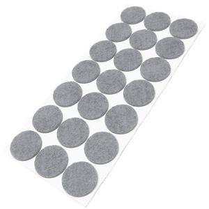 21 x Filzgleiter | Ø 30 mm | Grau | rund | 3.5 mm starke selbstklebende Filz-Möbelgleiter in  von Adsamm®