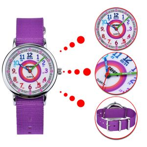 KZKR Nylon Uhr Kinderuhr Armbanduhr Sport Watch Quarz Lernuhr Mädchen Jungen Watch