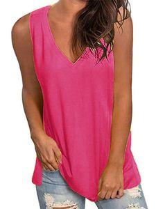 Sommerweste für Damen mit Weste ärmelloses Oberteil mit ärmellosen Hosenträgern und kurzen Ärmeln,Farbe: Rosa,Größe:L