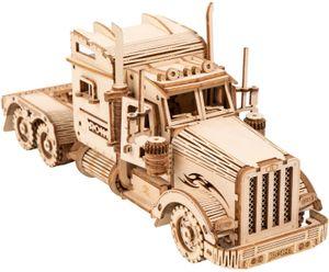 3D-Holzpuzzles für Erwachsene Mechanische Modelle Kits zum Bauen (schwerer LKW)