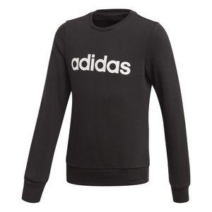 adidas Mädchen Kinder Trainings-Freizeit-Pullover Linear Sweatshirt schwarz Logo, Größe:152