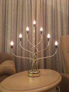 """LED-Leuchter """"CellCandle"""", 7 LED, messing"""