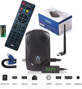CYE HD 777 mit PVR Aufnahmefunktion Timeshift - 1080p HDTV HD digitaler Mini Sat Receiver - 1080p Minireceiver Minisatreceiver vorinstalliert für Astra - 12V Camping + HDMI Kabel + USB WiFi Stick