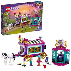 LEGO 41688 Friends Magischer Wohnwagen, Wohnwagen-Spielzeug mit Mini Puppen und Pferd, Freizeitpark