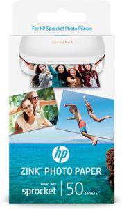 HP 1DE39A, Weiß, Glanz, Tintenstrahl, 2x3 Zoll, 50 Blätter, 20 - 25 °C