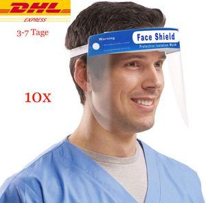 10Pcs Gesichtsschutz Transparenter Gesichtsschutz für Labor, Haushalt, Küche Verwenden Sie Wasser Staub Nebel Visier Prävention