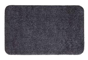 Fußmatte 40 x 60 cm Grau Türmatte Sauberlaufmatte für Innen- und überdachter Außenbereich waschbar mit rutschfester Unterseite