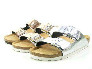 Rohde Alba 5616 Damen Lack Metallic Pantoletten Clogs Weite G , Größe:39 EU, Farbe:Silber